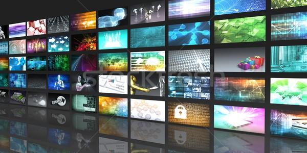 ワイヤレス技術 ソーシャルメディア 現代 実例 コンピュータ 図書 ストックフォト © kentoh