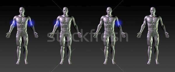 Reabilitação azul brilho médico esportes Foto stock © kentoh