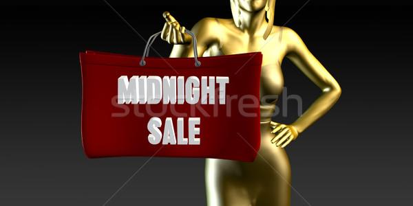 éjfél vásár eladó különleges esemény fekete mosolyog Stock fotó © kentoh