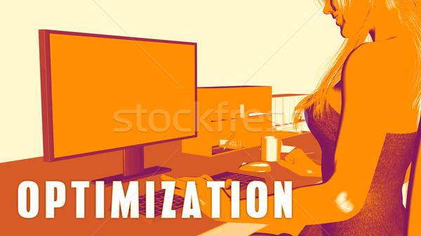 Optimization Concept Course Stock photo © kentoh