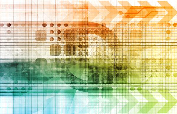 Industriële technologie moderne oplossingen home netwerk Stockfoto © kentoh