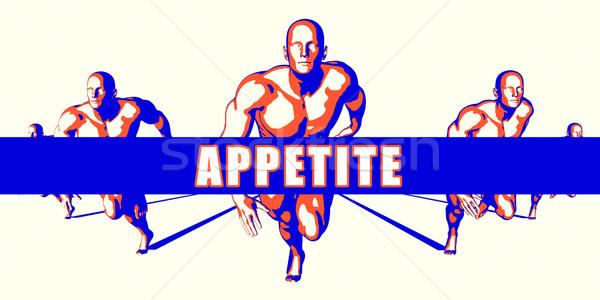 аппетит конкуренция иллюстрация искусства фон оранжевый Сток-фото © kentoh