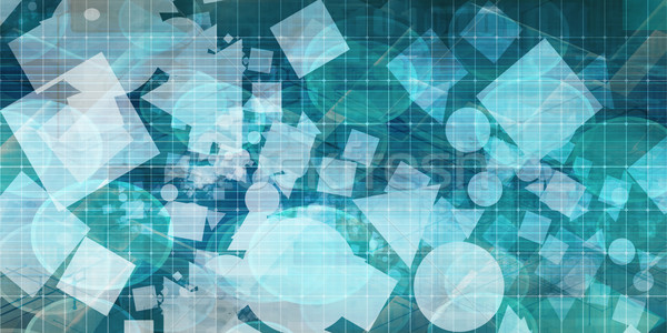 Geometric Shapes Background Stock photo © kentoh