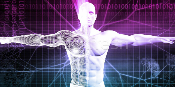 Stock fotó: Digitális · anatómia · technológia · absztrakt · test · gyógyszer