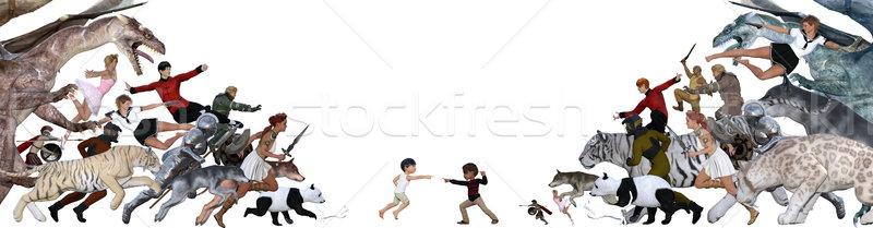 Epic Battle Stock photo © kentoh