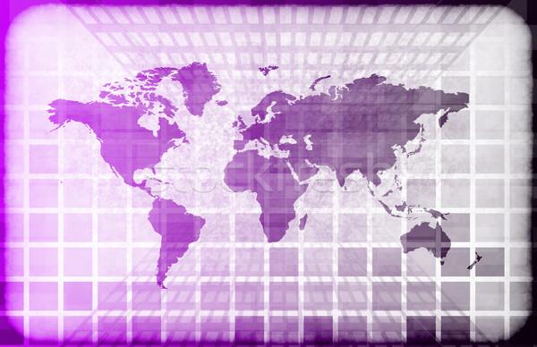 Grunge świat technologia informacyjna Pokaż streszczenie projektu Zdjęcia stock © kentoh