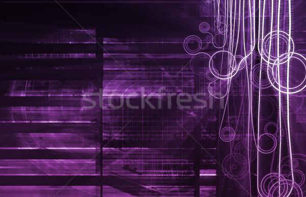 Fioletowy nanotechnologia medycznych projektu technologii Zdjęcia stock © kentoh