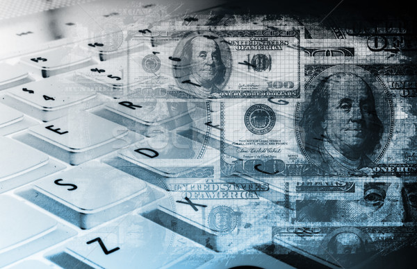 Stockfoto: Geld · online · internet · werk · home