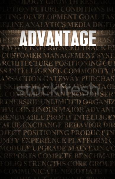 преимущество бизнеса мотивация каменной стеной стены рок Сток-фото © kentoh