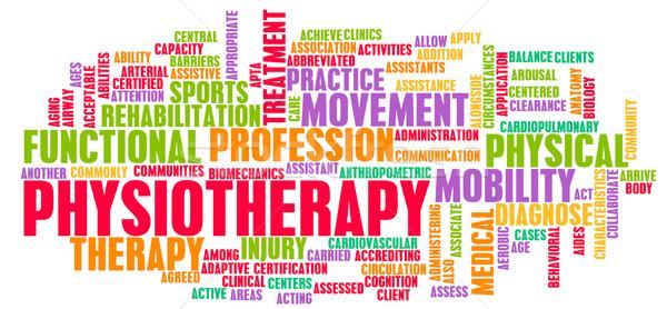 Fysiotherapie medische carriere kunst sport oefening Stockfoto © kentoh