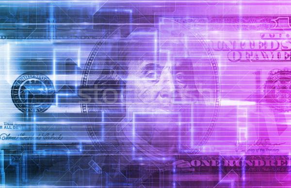 Digitális mobil bankügylet online üzlet internet Stock fotó © kentoh