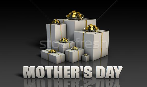 Mães dia presentes elegante ouro Foto stock © kentoh