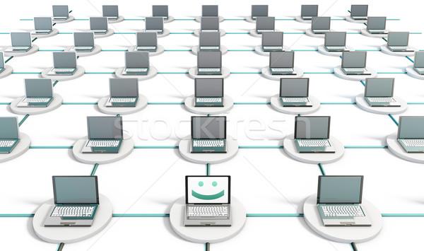 Diagnózis pc számítógép hálózat számítógépek szoftver Stock fotó © kentoh