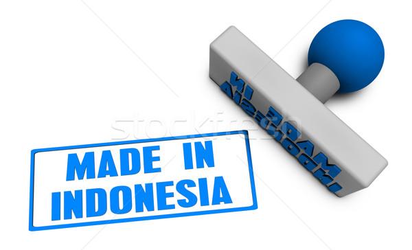 Endonezya damga pirzola kâğıt 3D meyve Stok fotoğraf © kentoh