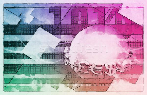 валюта торговый онлайн Фондовый рынок искусства знак Сток-фото © kentoh