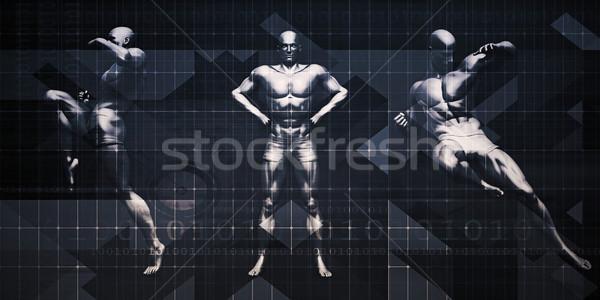 Sport evenement seminar tentoonstelling abstract fitness Stockfoto © kentoh