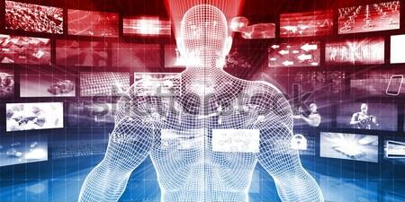 Seguridad red administración datos tecnología fondo Foto stock © kentoh