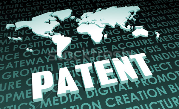 патент промышленности глобальный стандартный 3D карта Сток-фото © kentoh