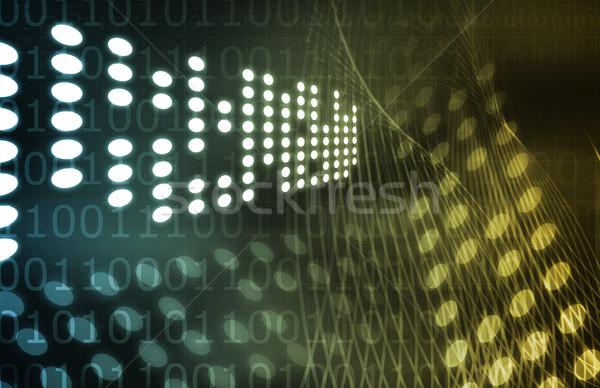 Wetenschappelijk onderzoek futuristische technologie abstract textuur veiligheid Stockfoto © kentoh