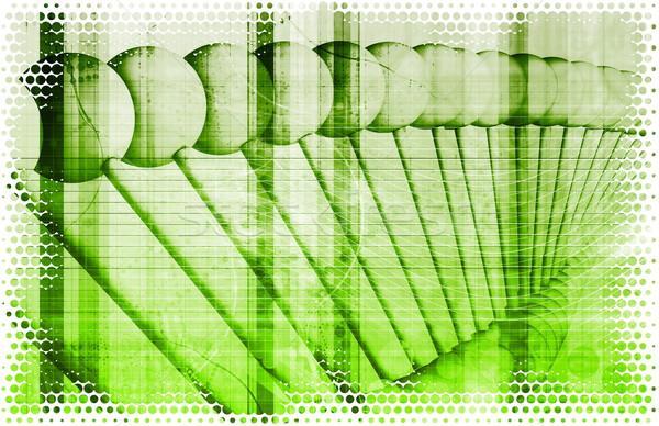 Dna biotech chemie medische vloeibare Stockfoto © kentoh