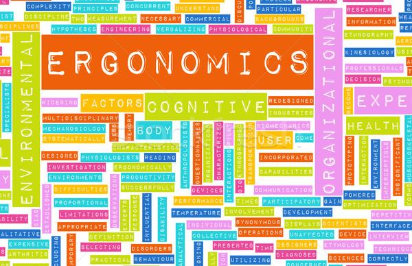 Ergonómia tudomány tanulás emberi faktor terv Stock fotó © kentoh