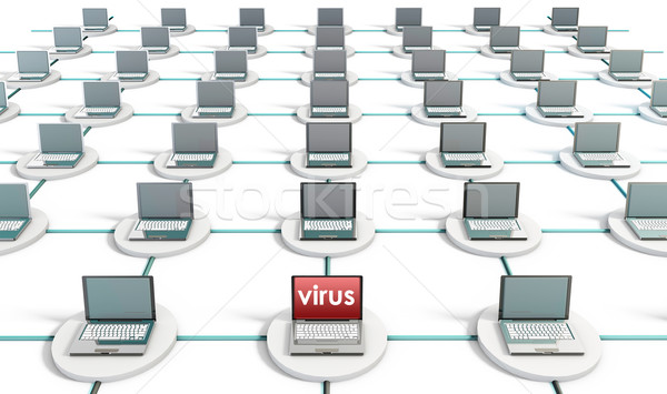Virus pc computer netwerk internet technologie Stockfoto © kentoh