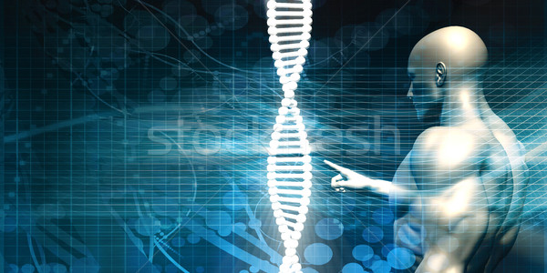 Scientist Analysing DNA Helix Strand Stock photo © kentoh