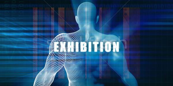 Wystawa futurystyczny streszczenie technologii Zdjęcia stock © kentoh
