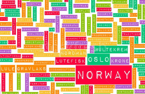 ノルウェー 国 抽象的な 芸術 ビジネス 食品 ストックフォト © kentoh