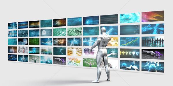 Video Wall Background Stock photo © kentoh