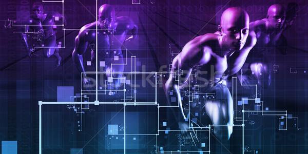 Integratie twee achtergrond handdruk team Stockfoto © kentoh