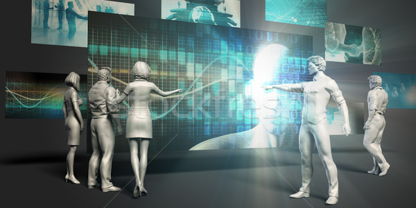 Orvostudomány virtuális bemutató orvosi háttér monitor Stock fotó © kentoh