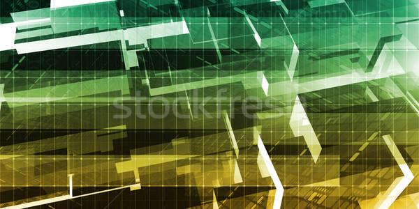 Digitális technológia hálózat biztonság hálózat háttér tapéta Stock fotó © kentoh