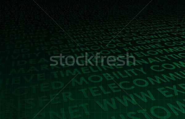 Iş bütünleşme model arka plan bilgi mühendislik Stok fotoğraf © kentoh