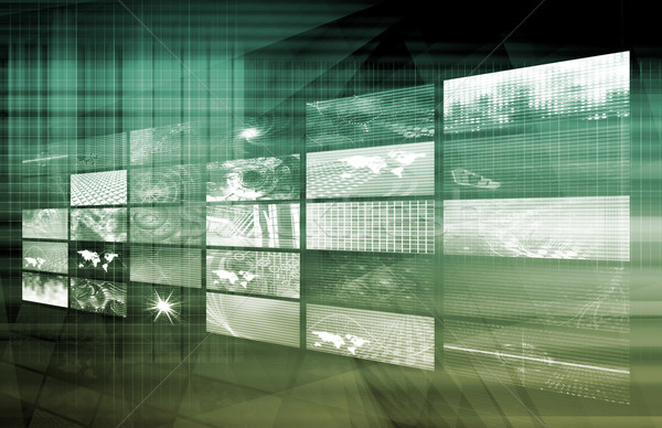 Média telekommunikáció videofal művészet számítógép monitor Stock fotó © kentoh