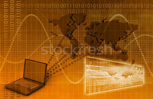 コンピュータ 技術 グローバル に達する 芸術 抽象的な ストックフォト © kentoh