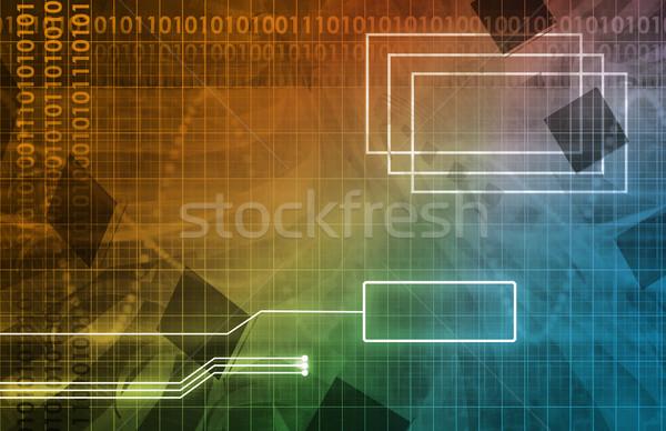 Business integratie netwerk verkoop kunst Stockfoto © kentoh