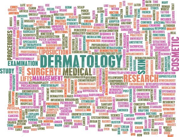 Dermatoloji tıbbi çalışma cilt arka plan tırnak Stok fotoğraf © kentoh