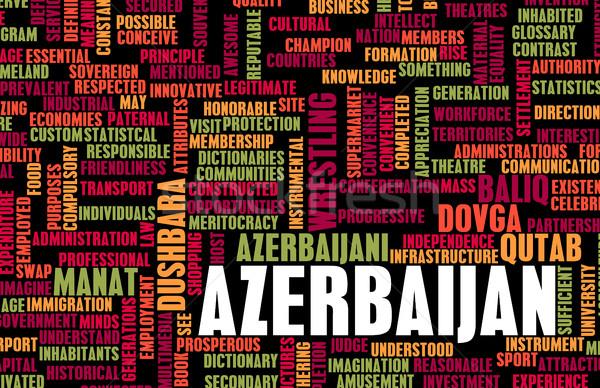 Azerbajdzsán vidék absztrakt művészet üzlet étel Stock fotó © kentoh
