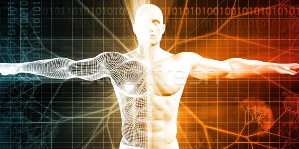 Wetenschap studie veld genetica achtergrond industrie Stockfoto © kentoh