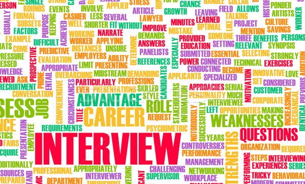 Entrevista de emprego carreira perguntas idéia pergunta entrevista Foto stock © kentoh