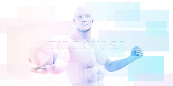 глобальный Информационные технологии запуска Мир технологий сервер Сток-фото © kentoh