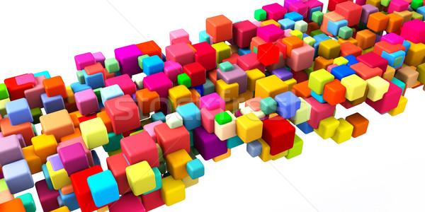 Colorful Geometric Abstract Stock photo © kentoh