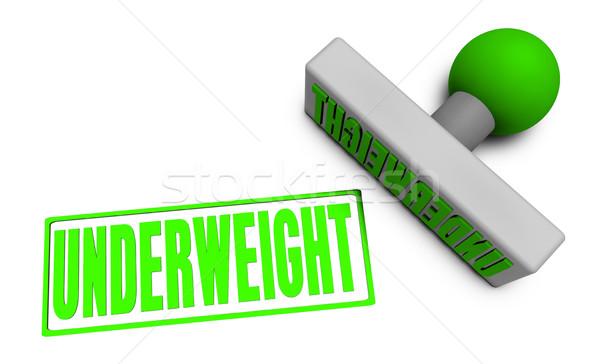 Stock photo: Underweight Stamp