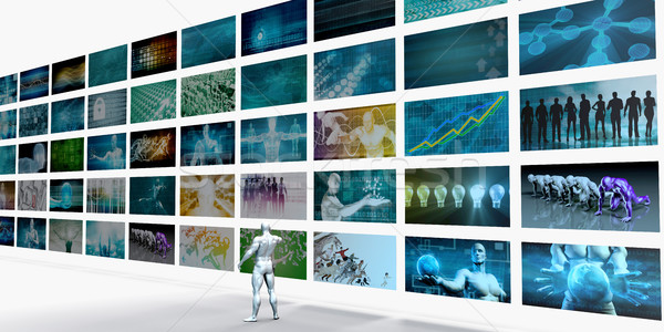 Video Wall Background Stock photo © kentoh