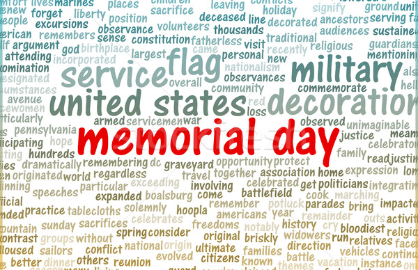 Memorial Day Stock photo © kentoh