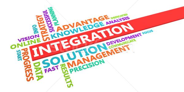 Integration Word Cloud Stock photo © kentoh