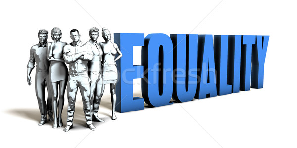 Równość działalności kobiet zespołu korporacyjnych firmy Zdjęcia stock © kentoh