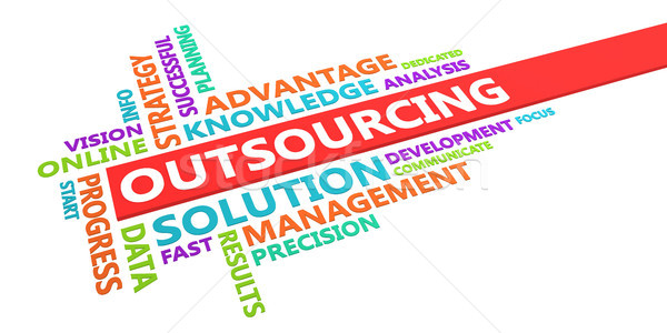 Outsourcing Word Cloud Stock photo © kentoh