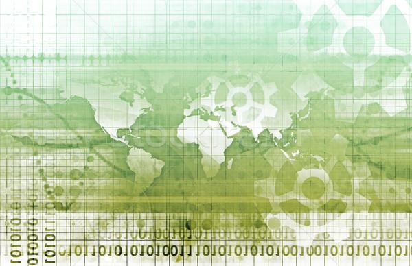 Integrado soluções teia internet mapa Foto stock © kentoh